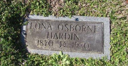 OSBORNE HARDIN, LONA - Wayne County, Tennessee | LONA OSBORNE HARDIN - Tennessee Gravestone Photos