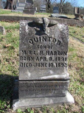 HARDIN, QUINTON - Wayne County, Tennessee | QUINTON HARDIN - Tennessee Gravestone Photos