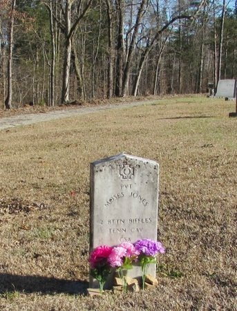JONES (VETERAN CSA), MOSES - Wayne County, Tennessee | MOSES JONES (VETERAN CSA) - Tennessee Gravestone Photos