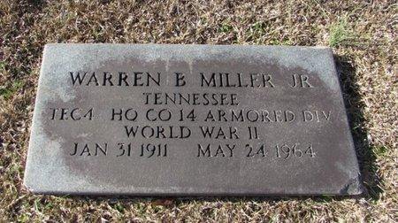 MILLER, JR. (VETERAN WWII), WARREN B. - Wayne County, Tennessee | WARREN B. MILLER, JR. (VETERAN WWII) - Tennessee Gravestone Photos