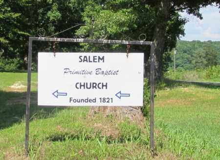 *SALEM PRIMITIVE BAPTIST CHURC,  - Wayne County, Tennessee |  *SALEM PRIMITIVE BAPTIST CHURC - Tennessee Gravestone Photos