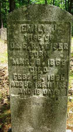 YEISER, EMILY J. - Wayne County, Tennessee | EMILY J. YEISER - Tennessee Gravestone Photos