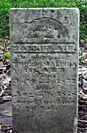 GLASS, SALLIE A. E. - Weakley County, Tennessee   SALLIE A. E. GLASS - Tennessee Gravestone Photos
