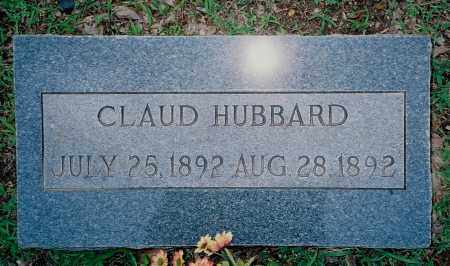 HUBBARD, CLAUD - Weakley County, Tennessee | CLAUD HUBBARD - Tennessee Gravestone Photos