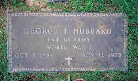 HUBBARD (VETERAN WWI), GEORGE FRANKLIN - Weakley County, Tennessee | GEORGE FRANKLIN HUBBARD (VETERAN WWI) - Tennessee Gravestone Photos