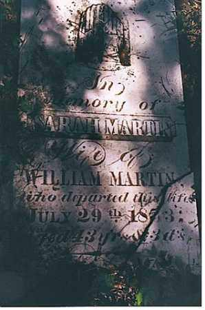 GLASS MARTIN, SARAH - Weakley County, Tennessee | SARAH GLASS MARTIN - Tennessee Gravestone Photos