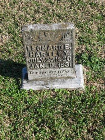 HARTLEY, LEONARD E. - Williamson County, Tennessee | LEONARD E. HARTLEY - Tennessee Gravestone Photos