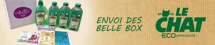 Envoi des Belle Box Le Chat Eco-Efficacité