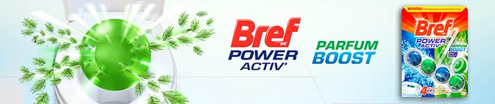 Découvrons la particularité du nouveau Bref WC Power Activ' Parfum Boost