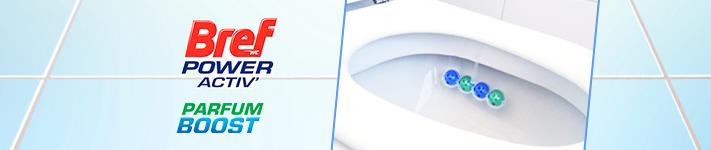 Voici comment bien utiliser le produit  Bref WC Power Activ' Parfum Boost