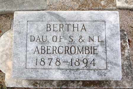 ABERCROMBIE, BERTHA - Archer County, Texas | BERTHA ABERCROMBIE - Texas Gravestone Photos