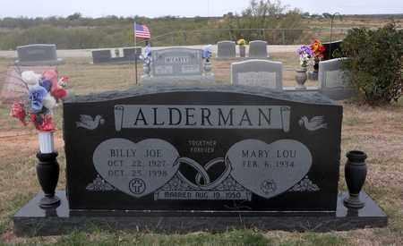 ALDERMAN, BILLY JOE - Archer County, Texas | BILLY JOE ALDERMAN - Texas Gravestone Photos