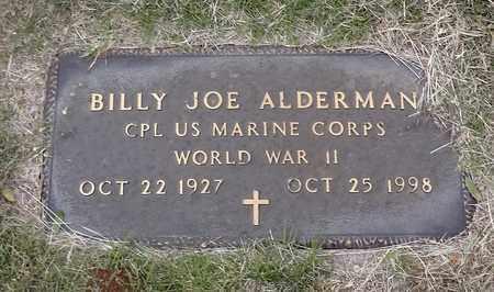 ALDERMAN (VETERAN WWII), BILLY JOE - Archer County, Texas | BILLY JOE ALDERMAN (VETERAN WWII) - Texas Gravestone Photos