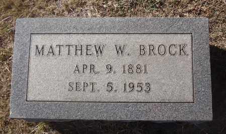 BROCK, MATTHEW WEBSTER - Archer County, Texas | MATTHEW WEBSTER BROCK - Texas Gravestone Photos