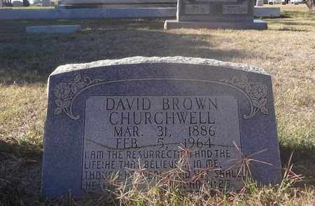 CHURCHWELL, DAVID BROWN - Archer County, Texas | DAVID BROWN CHURCHWELL - Texas Gravestone Photos