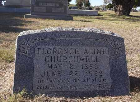 CHURCHWELL, FLORENCE ALINE - Archer County, Texas | FLORENCE ALINE CHURCHWELL - Texas Gravestone Photos