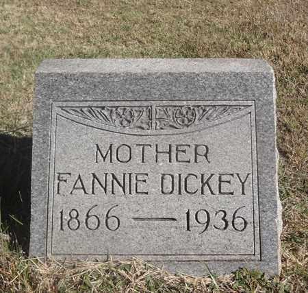 PEIRCE DICKEY, FANNIE - Archer County, Texas | FANNIE PEIRCE DICKEY - Texas Gravestone Photos