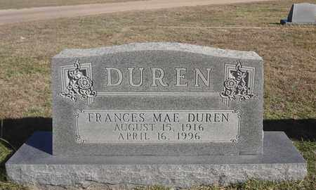 DUREN, FRANCES MAE - Archer County, Texas | FRANCES MAE DUREN - Texas Gravestone Photos