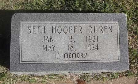 DUREN, SETH HOOPER - Archer County, Texas   SETH HOOPER DUREN - Texas Gravestone Photos