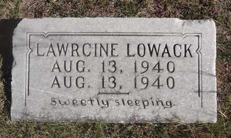LOWACK, LAWRCINE - Archer County, Texas   LAWRCINE LOWACK - Texas Gravestone Photos