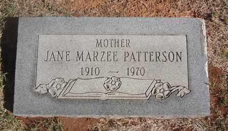 PATTERSON, JANE MARZEE - Archer County, Texas   JANE MARZEE PATTERSON - Texas Gravestone Photos