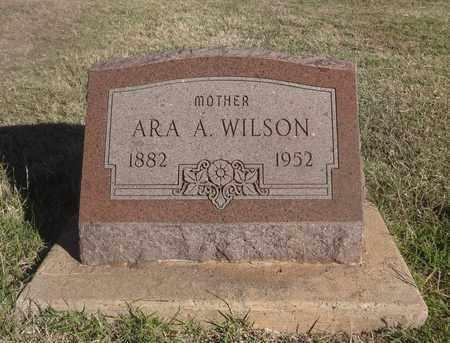 WILSON, ARA ADALINE - Archer County, Texas | ARA ADALINE WILSON - Texas Gravestone Photos
