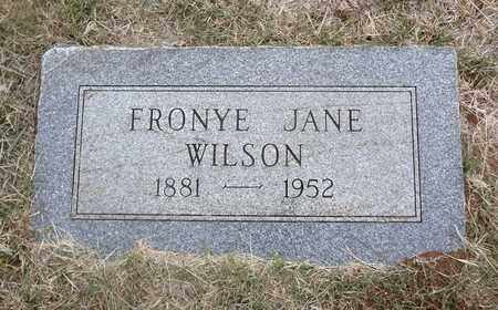 WILSON, FRONYE JANE - Archer County, Texas | FRONYE JANE WILSON - Texas Gravestone Photos