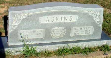ASKINS, ALICE - Borden County, Texas | ALICE ASKINS - Texas Gravestone Photos