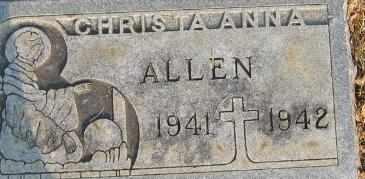 ALLEN, CHRISTA ANNA - Bowie County, Texas | CHRISTA ANNA ALLEN - Texas Gravestone Photos