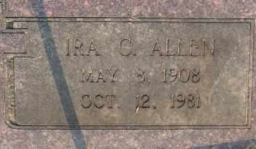 ALLEN, IRA C - Bowie County, Texas | IRA C ALLEN - Texas Gravestone Photos