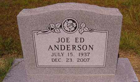 ANDERSON, JOE ED - Bowie County, Texas | JOE ED ANDERSON - Texas Gravestone Photos