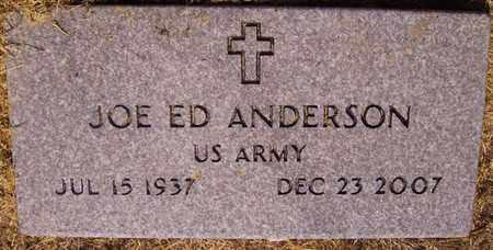 ANDERSON (VETERAN), JOE ED - Bowie County, Texas | JOE ED ANDERSON (VETERAN) - Texas Gravestone Photos