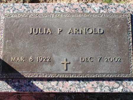 ARNOLD, JULIA P - Bowie County, Texas | JULIA P ARNOLD - Texas Gravestone Photos