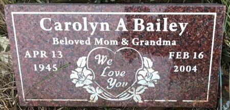 BAILEY, CAROLYN A - Bowie County, Texas | CAROLYN A BAILEY - Texas Gravestone Photos