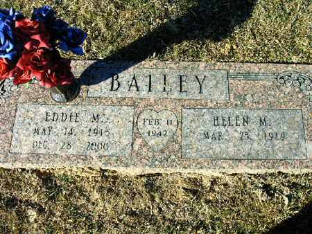 BAILEY, EDDIE M - Bowie County, Texas   EDDIE M BAILEY - Texas Gravestone Photos