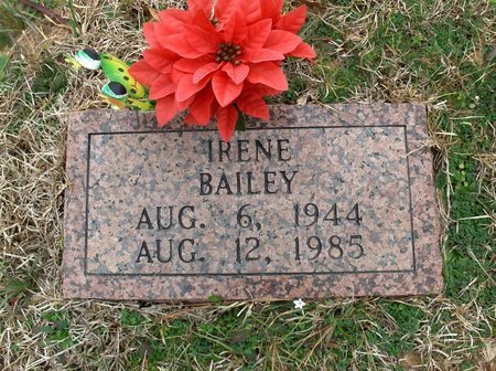 BAILEY, IRENE - Bowie County, Texas | IRENE BAILEY - Texas Gravestone Photos