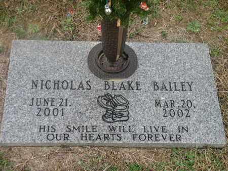 BAILEY, NICHOLAS BLAKE - Bowie County, Texas | NICHOLAS BLAKE BAILEY - Texas Gravestone Photos