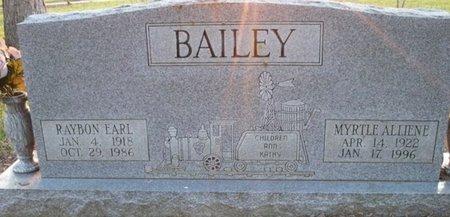 BAILEY, RAYBON EARL - Bowie County, Texas | RAYBON EARL BAILEY - Texas Gravestone Photos