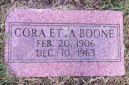 BOONE, CORA ETTA - Bowie County, Texas | CORA ETTA BOONE - Texas Gravestone Photos