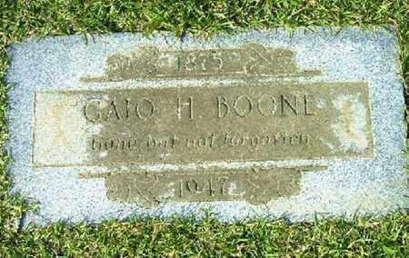 BOONE, GAIO H - Bowie County, Texas | GAIO H BOONE - Texas Gravestone Photos