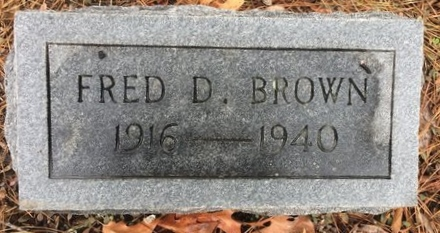 BROWN, FRED D. - Bowie County, Texas   FRED D. BROWN - Texas Gravestone Photos