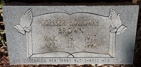 HOLLOWAY BROWN, ODESSA  - Bowie County, Texas | ODESSA  HOLLOWAY BROWN - Texas Gravestone Photos