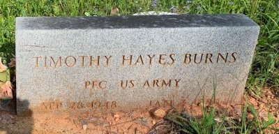 BURNS (VETERAN), TIMOTHY HAYES  - Bowie County, Texas | TIMOTHY HAYES  BURNS (VETERAN) - Texas Gravestone Photos