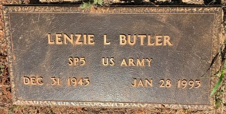 BUTLER (VETERAN), LENZIE L - Bowie County, Texas | LENZIE L BUTLER (VETERAN) - Texas Gravestone Photos