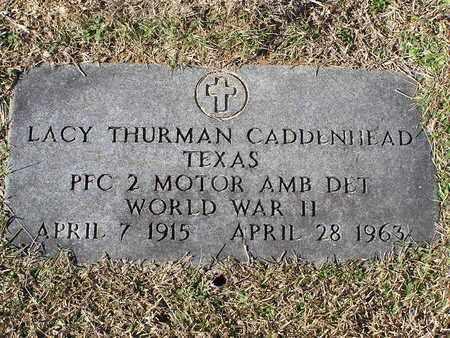 CADDENHEAD (VETERAN WWII), LACY THURMAN - Bowie County, Texas   LACY THURMAN CADDENHEAD (VETERAN WWII) - Texas Gravestone Photos