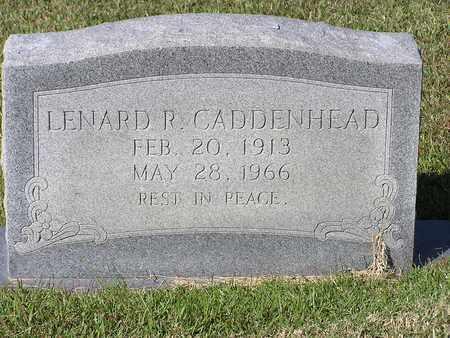 CADDENHEAD, LENARD R - Bowie County, Texas | LENARD R CADDENHEAD - Texas Gravestone Photos