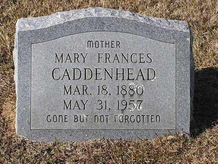 CADDENHEAD, MARY FRANCES - Bowie County, Texas | MARY FRANCES CADDENHEAD - Texas Gravestone Photos