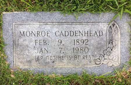 CADDENHEAD, MONROE - Bowie County, Texas   MONROE CADDENHEAD - Texas Gravestone Photos