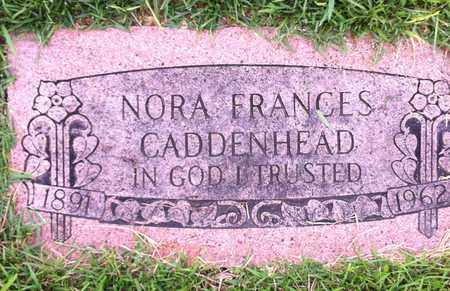 CADDENHEAD, NORA FRANCES - Bowie County, Texas | NORA FRANCES CADDENHEAD - Texas Gravestone Photos