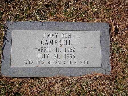 CAMPBELL, JIMMY DON - Bowie County, Texas   JIMMY DON CAMPBELL - Texas Gravestone Photos
